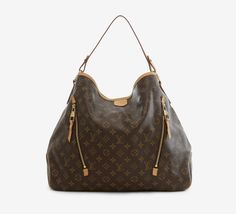 Louis Vuitton Brown And Tan Shoulder Bag