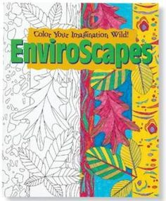 MINDWARE ENVIROSCAPES COLOR YOUR IMAGINATION WILD COLORING BOOK