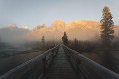 robsesphoto:  A foggy morning at the Grand Tetons National Park source: robsesphoto