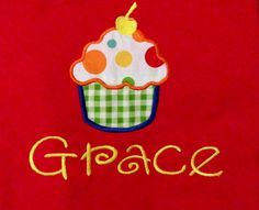 Perfect cupcake applique tshirts by RileyAnneBoutique on Etsy, $25.00