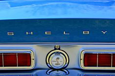 Car Tail Light Images by Jill Reger - Images of Tail Lights - Car Taillight Images - 1968 Ford Shelby Gt500 Kr Convertible Rear Emblems