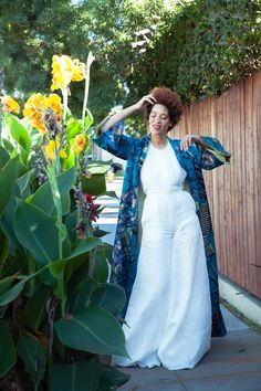Kait Kat Creative Content and our company have joined forces in creating a moment of escape. Through my SS17 Collection I incorporated floral prints from the Gardens of Japan. Inspired by each distinctive piece I wanted to bring to life a movement of color and prints to leave us in a breathe of beautiful escape.   Wearing Sumire Kimono + Sagiso White Crossback Jumpsuit.   Photographed by @kathennesy  Model @nikiaphoenix Content by @kaitness Duo @kaitkatcc