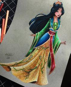 Mulan - Disney Princess Drawings by Max Stephen