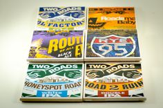 Ceramic Beer Coasters Set of Four by DcCraftsct on Etsy