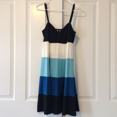 INC striped cotton dress Striped cotton dress with adjustable straps. INC International Concepts Dresses