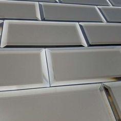 Reflections Glass Mirror Beveled Wall Tile - BV Tile and Stone Mirror Wall Tiles, Wall And Floor Tiles, Mirror Glass, Gloss Kitchen, Glass Subway Tile, Tiles Online, Matte Gold, Backsplash
