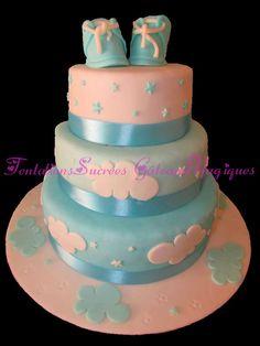 Tentations Sucrées Gâteaux Magiques: Gâteau de Baptême Garçon