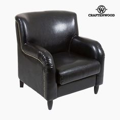 Armchair Polyskin Black - Relax Retro Collection by Craftenwood