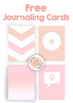 Clear Colours: Free Journaling Cards (3x4)