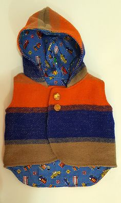 Upcyled Woolen Vest by TroubleMakerNZ on Etsy