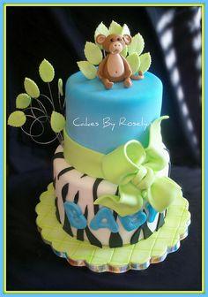 jungle baby shower cake perfect for quatros theme