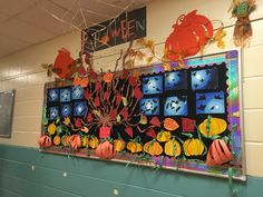Bulletin board fall autumn Halloween Fall Bulletin Boards, Ms, Autumn, Halloween, How To Make, Fall, Halloween Stuff, Fall Boards