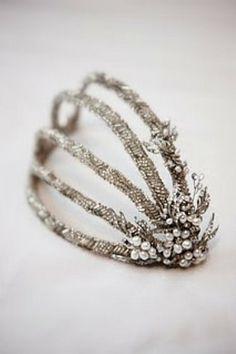 Hairpiece 1920 - /abigaildownie/terrific-tiaras-head-pieces/ BACK Bridal Accessories, Fashion Accessories, 1920s Hair Accessories, Bridal Jewelry, Beaded Jewelry, Look Gatsby, Vintage Hair Pieces, Bridal Headpieces, Fascinators