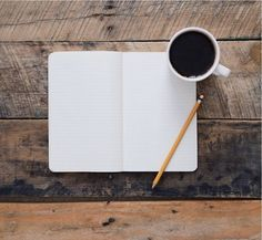 a blank page to fill, a pencil, and a soothing mug of black coffee; yes please