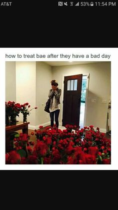 Omg I would die if I even got one flower😊🙈it justs make the whole week better