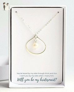 Elegant Bridesmaid Proposal Necklace - Wedding nacklaces (*Amazon Partner-Link)