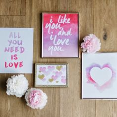 We are sharing the love with some free downloadable V-Day prints!