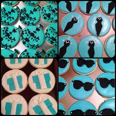 Breakfast at Tiffany's themed shower cookies.