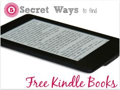 5 Secret Ways to find Free Kindle Books #Free #ebooks