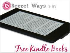 5 Secret Ways to find Free Kindle Books #Free #ebooks