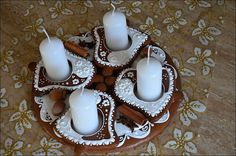 Biscuit Cookies, Gingerbread, Panna Cotta, Biscuits, Tutorials, Ethnic Recipes, Food, Christmas, Ideas