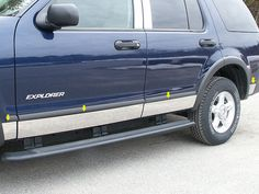 "EXPLORER 2006-2010 FORD (8 pieces: Body Molding or Rocker Panel Accent Trim kit: 5"" width - *Full Kit, spans from the bottom of the molding to the bottom of the door. (MODEL: With Flares)) TH46331"