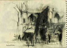 Urban Sketchers: Black & white winter
