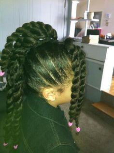 Natural kids hair Mohawk twists
