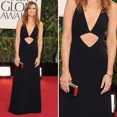 Kristen Wiig in Michael Kors wool crepe halter gown from the Spring 2013 collection