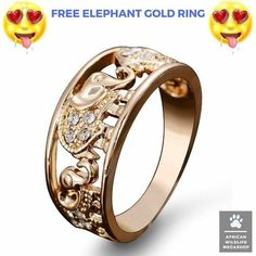 @africanwildlifemegashop are giving away FREE Elephant Rhinestone Gold Rings!  Just pay shipping that's it! Only 100 rings left so hurry & claim yours now! Link in bio & @africanwildlifemegashop  @africanwildlifemegashop @africanwildlifemegashop
