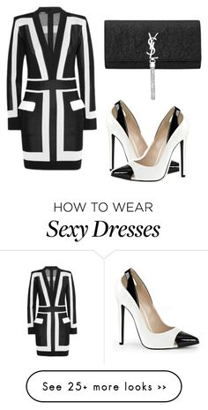 """""""Color block sensation"""" by tinakini on Polyvore featuring Balmain and Yves Saint Laurent"""