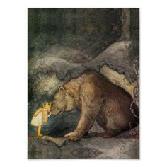 She kissed the bear on the nose (c. 1910 by John Bauer) (great illustrations of night time magic) Children's Fairy Tale Illustrator John Bauer, Art And Illustration, Book Illustrations, Princess Illustration, Fantasy Magic, Fantasy Art, Pics Art, Fairy Tales, Art Photography