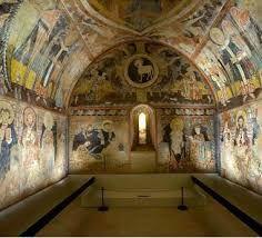 Iglesia de la Vera Cruz de Maderuelo en Segovia. Pinturas murales de influencia ítalo-bizantinas.