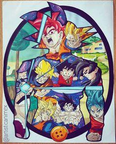 Mural arte Goku                                                                                                                                                                                 More