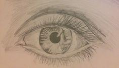 Drawing of an eye - Pencil