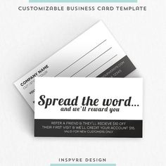 Salon Referral Business Card by InspyreDesign on Etsy