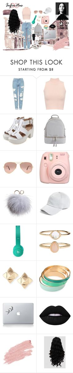 """""""back to school OUtfit"""" by glitter-full-eyes on Polyvore featuring Topshop, WearAll, MICHAEL Michael Kors, Ray-Ban, Fujifilm, Dena, rag & bone, Beats by Dr. Dre, Accessorize et Valentino"""