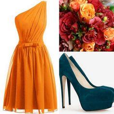 Orange Tangerine Bridesmaid Dress Ideas Lisa Sammons Events