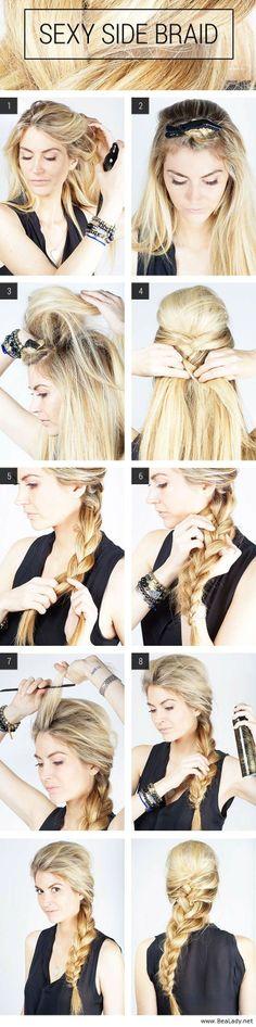 Sexy side braid tutorial - BeaLady.net