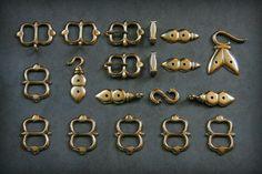 Full set of rapier hanger fittings, 1550-1650. www.facebook.com/bayley.heritage.castings