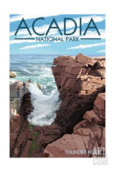 Acadia National Park, Maine - Thunder Hole Day Art Print at Art.com