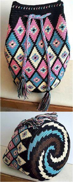 Design Ideas for Crocheted Hand Bags- Design Ideas for Crocheted Hand Bags crocheted bag design ideas 2 - Crochet Handbags, Crochet Purses, Crochet Bags, Love Crochet, Crochet Hooks, Knit Crochet, Tapestry Bag, Tapestry Crochet, Crochet Shell Stitch