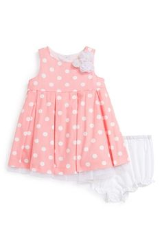 Pippa & Julie Polka Dot Dress & Bloomers (Baby Girl) available at #Nordstrom
