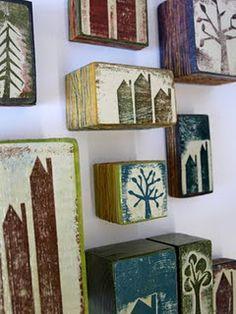 Prints on Wood - Fiona Wilson little art house