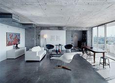 Home Inspiration: Concrete Roof + Minimal Furniture