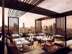 Rooftop restaurant in Bangkok