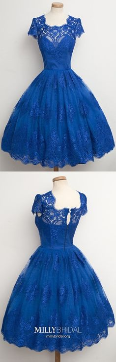 vintage dresses,lace homecoming dresses,blue homecoming dresses,short homecoming dresses >>>dresses like this are amazing Royal Blue Homecoming Dresses, Princess Prom Dresses, Prom Dresses For Teens, Dresses Short, A Line Prom Dresses, Cheap Prom Dresses, Trendy Dresses, Cute Dresses, Evening Dresses