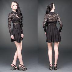 ✝ JUST ADDED ✝ Lace Bolero & Sexy Mini Dress! #Shamorg #gothicstyle #gothgoth