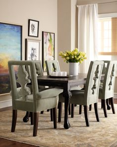 "Haute House ""Tuscan"" Dining Table & ""Seabrook"" Seating - Horchow"