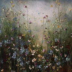 Bloemen - Yulia Muravyeva Acrylic Painting Flowers, Abstract Flowers, Watercolor Flowers, Abstract Art, Flower Landscape, Print Pictures, Dried Flowers, Painting Inspiration, Artsy Fartsy